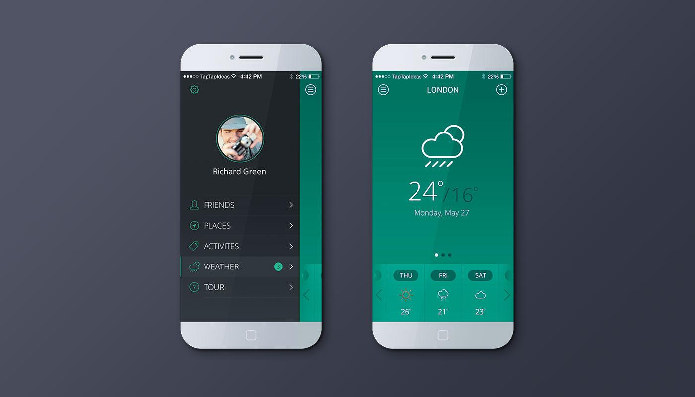 Mobile app – green version